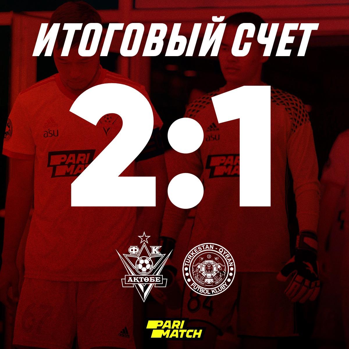 «Актобе» U-21 одерживает победу над «Кыран» U-21!